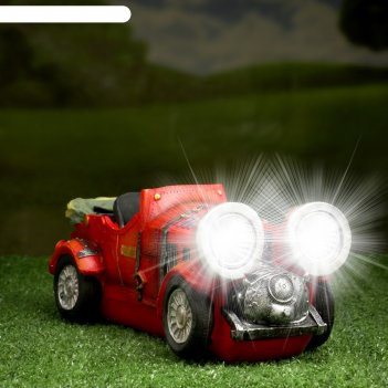 Садовый светильник кабриолет на солнечной батарее, 12 см