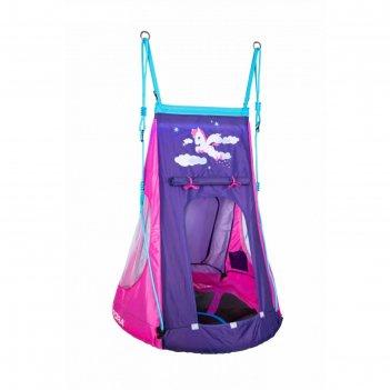 Качели-гнездо с палаткой pony led, 90, цвет фиолетовый