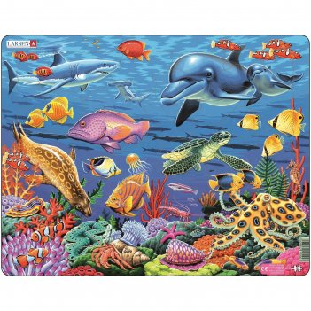 Пазл коралловый риф, 35 деталей (fh29)