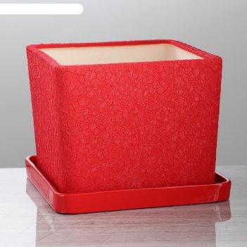 Горшок для цветов квадрат №2 5 л, шёлк, микс