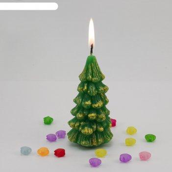 Декоративная свеча елочка 1шт