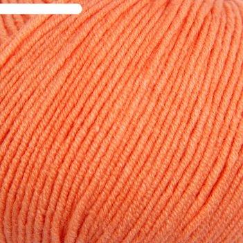 Пряжа jeans 55% хлопок, 45% акрил 160м/50гр (23 св. оранжевый)