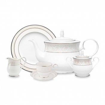 Сервиз чайный на 4 персоны, 15 предметов, материал: костяной фарфор, цвет: