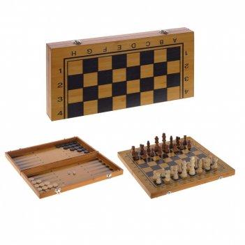 Набор настольных игр (шахматы, шашки, нарды) l40 w20,5 h5 см