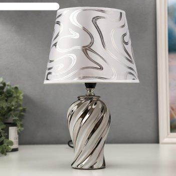 Лампа настольная 16268/1wt+cr е14 40вт бело-хромовый 20х20х33 см