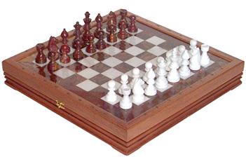 Шахматы каменные славянские (высота короля 3,50) 43х43см