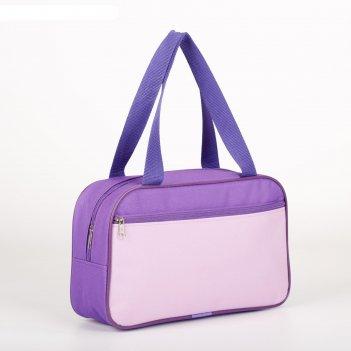 7922 п-600 сумка для обуви , 33*10*20, отд на молнии, н/карман, сир/лаванд