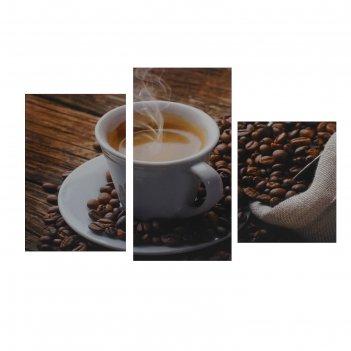 Модульная картина на подрамнике утренний кофе, 29x35 см, 29x45 см, 29x55 с