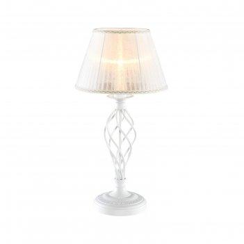 Настольная лампа ровена 1x75вт e27 белый 28,5x29,5x7см