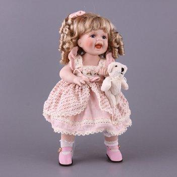 Фарфоровая кукла с мягконабивным туловищем высота=...