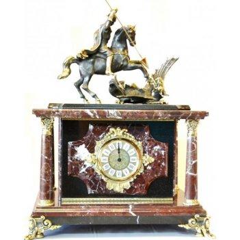 Часы-сейф из яшмы георгий-победоносец