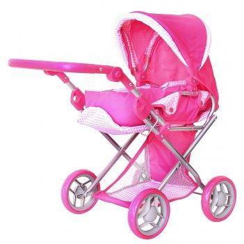 9346-1 кукольная коляска rt цвет розовый