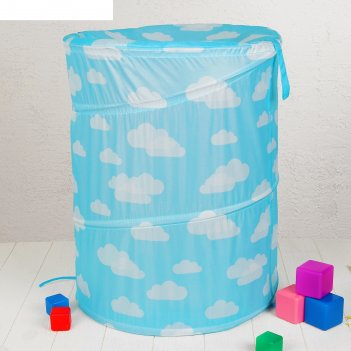 Корзина для игрушек «облачка», голубая