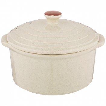 Горшочек для запекания agness modern kitchen бежевый 600мл 16*14*11 см