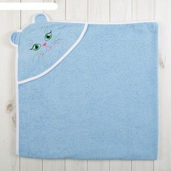 Уголок детский киска, размер 120*120, цв. голубой, хл100%