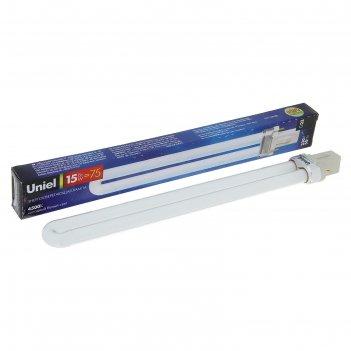 Лампа энергосберегающая uniel g23, 15 вт, 4500 к, свет холодный белый