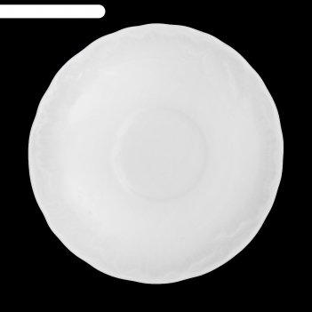Блюдце «rococo», d=12,5 см, цвет белый