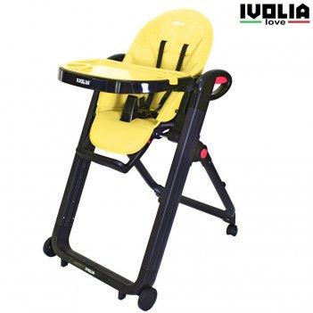 Стульчик для кормления ivolia love 02 4 колеса yellow
