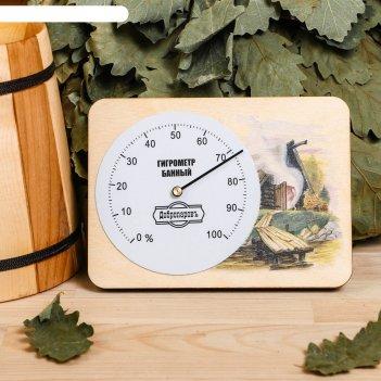 Гигрометр для бани  банька, 15,2х11см, добропаровъ