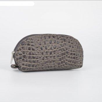 Сумка-косметичка 1097, 20*7*9, отдел на молнии, рептилия коричневый