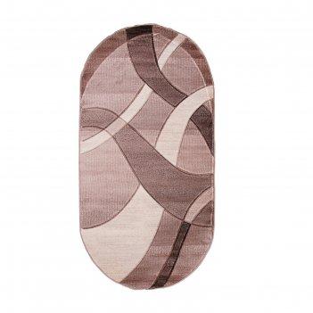 Овальный ковёр omega hitset 7690, 1.5 х 5 м, цвет bone-beige