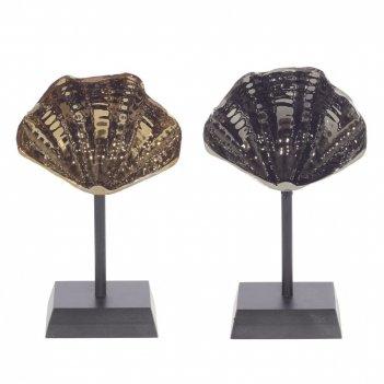 Фигурка декоративная ракушка, l14 w7 h32 см, 2в.