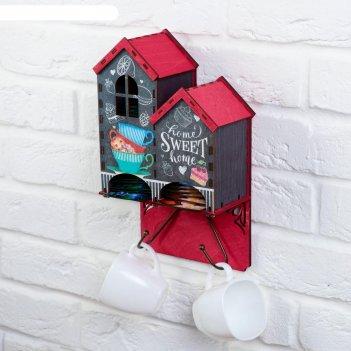 Чайный домик настенный sweet home 17,3х30,3 см