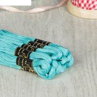 Мулине 10м, (№3506), цвет голубой