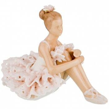 Статуэтка балерина 8*11,5*7,5 см. серия фарфоровые кружева (кор=60шт.)