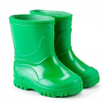 Сапоги детские пвх, цвет зелёный, размер 23