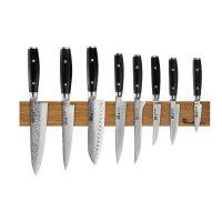 Набор из 8-ми кухонных ножей на магнитном держателе из дуба, серия ran, ya