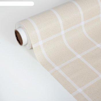 Клеенка столовая на ткани (рулон 20 метров), ширина 137 см, толщина 0,3 мм