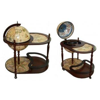 Глобус бар сокровища древнего мира напольный d=42см, 81*51*9