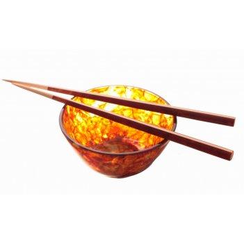 Набор для суши из янтаря (пиала с палочками для еды) - посуда из янтаря