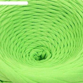 Пряжа трикотажная широкая 100м/350гр, ширина нити 7-9 мм (ярко-зеленый) ми