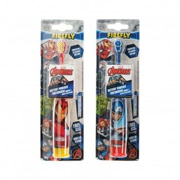 Зубная щётка avengers av-6, вибрационная, мягкая щетина, 1хаа (в комплекте