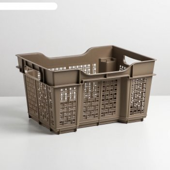 Ящик универсальный 16 л 400х300х220мм цвет капучино