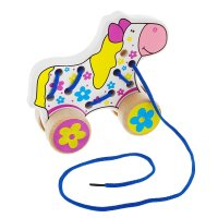 Каталка-шнуровка лошадь