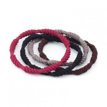 Резинки для волос dewal beauty цветные, крученые , midi (4 шт.)