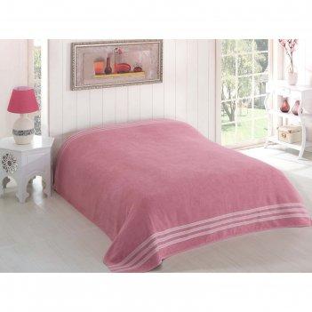 Простыня махровая petek, размер 200х220 см, грязно-розовый, 310 г/м2