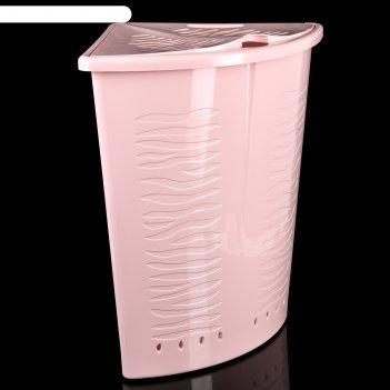 Корзина для белья aqua 40 л угловая (цвета микс)