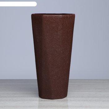 Кашпо комета 8 л, шёлк, коричневые
