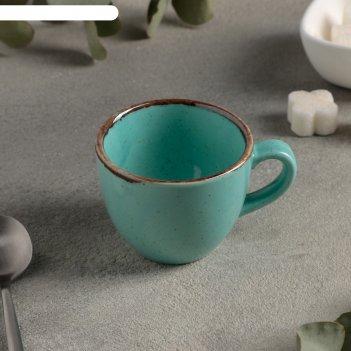 Чашка кофейная 90 мл, цвет бирюзовый