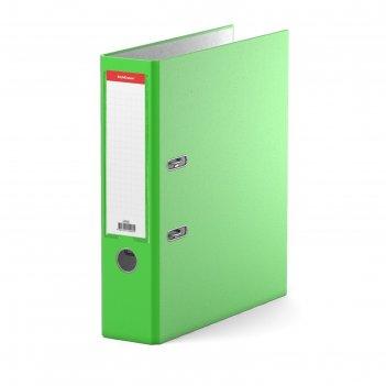 Папка-регистратор а4, 70 мм, neon, разборный, зелёный, пластиковый карман,