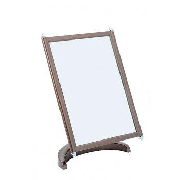 Зеркало psm 002 brz/c bronze наст. квадр.17х22 см (3/12)