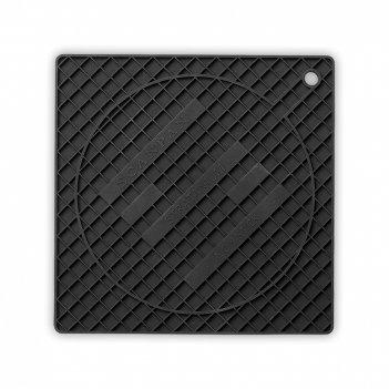 Подставка под горячее, размер 18 х 18 см, материал: силикон, цвет: черный,