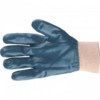 Перчатки трикотажные с обливом из бутадиен-нитрильного каучука, манжет, l
