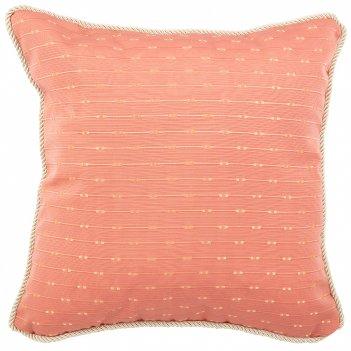 Подушка декоративная шарм 40х40см,100% п/э,кораловый.