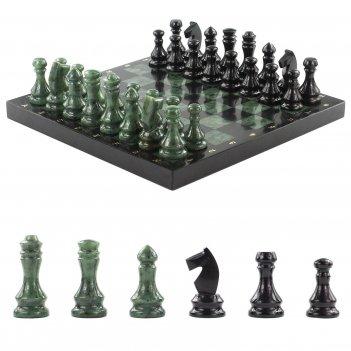 Шахматы нефрит змеевик 380х380 мм 10000 гр.