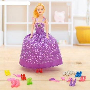 Кукла модель анюта с аксессуарами, микс